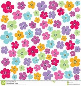 Seamless Floral Pattern, Wallpaper Stock Photo - Image