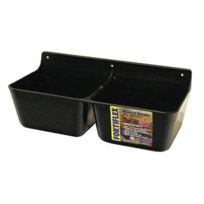 Feeders Supply Company by Fortiflex Mf 2 Mineral Feeder 2x1 75 Qt Capacity Black