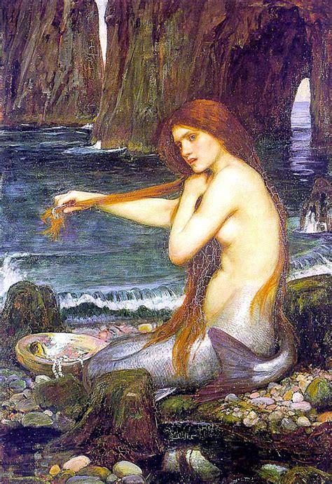 water waterhouse mermaid william john mermaids sirens siren painting sea paintings mythology jw nymphs 1901 pre raphaelite goddess painter marmaid