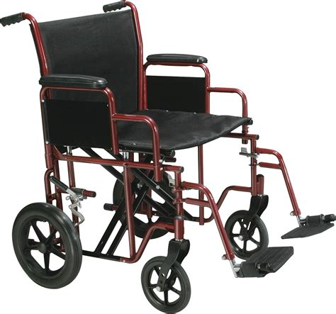 bariatric heavy duty transport wheelchair with swing away
