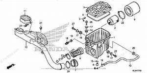 Honda Side By Side 2018 Oem Parts Diagram For Air Cleaner