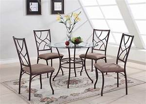 Round glass dining table sets best dining table ideas for Dining glass table set