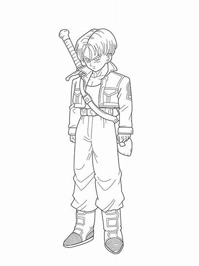 Future Trunks Coloring Gohan Lineart Pages Deviantart