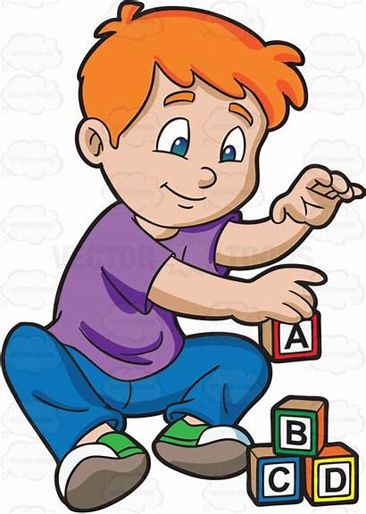 Blocks Clipart Building Child Young Block Boy