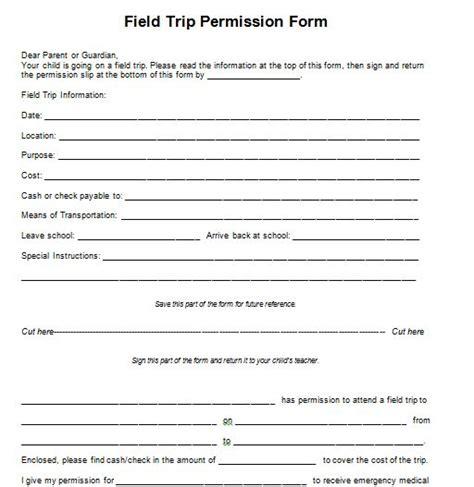 field trip permission slip template 35 permission slip templates field trip forms free template downloads