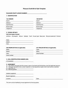 boat partnership agreement template - bill of sale word doc template