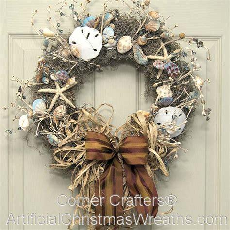 sea shell wreath artificialchristmaswreathscom