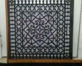 large ornate metal heat grate antique vintage cast iron decorative floor furnace paint ideas