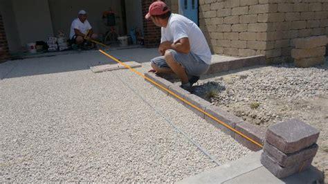 pflaster verlegen unterbau garageneinfahrt pflastern anleitung zum betonpflaster