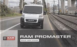 2019 Ram Promaster User Guide Owner U0026 39 S Manual Original