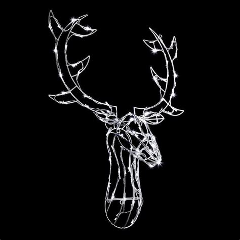 reindeer head with 80 leds rope light buy online at qd