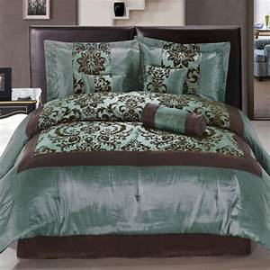 Teal, And, Brown, Bedding, Product, Selections, U2013, Homesfeed
