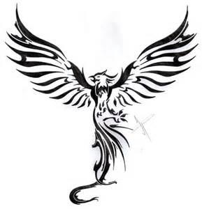 Rising Phoenix Tattoo Drawings