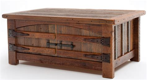 Barnwood Coffee Table, Aged Old Wood, Made In America