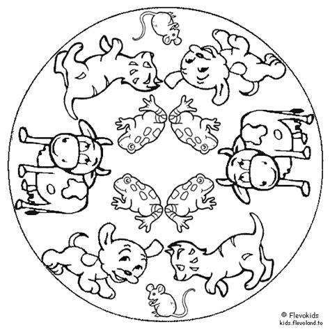 Mandala Kleurplaat Dieren by Mandala Kleurplaten Huisdieren