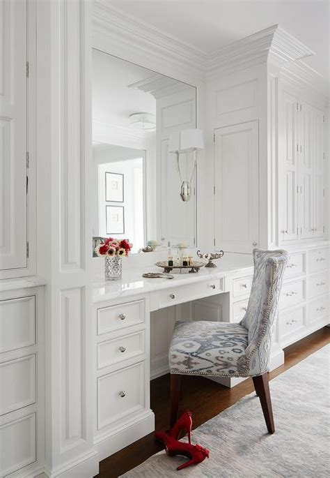 make up vanity alcove transitional closet benjamin