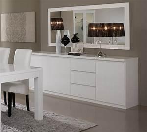 Salle A Manger Blanc Laqué : miroir de salle manger rectangulaire design laqu blanc ~ Dallasstarsshop.com Idées de Décoration