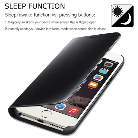 smart view iphone for apple iphone 8 8 plus shockproof folio leather smart