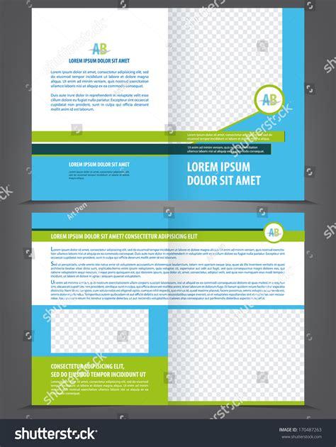 Yellow Brochure Design Vector Millions Vectors Vector Empty Brochure Template Design With Blue And Green
