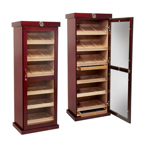 cabinet humidors for cigars prestige import barbatus large cabinet cigar humidor
