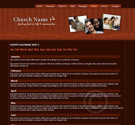 church template theme changer church web template