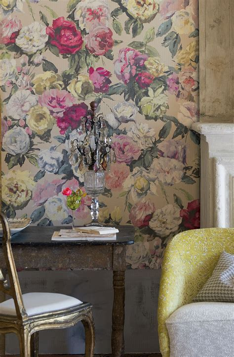 octavia  designers guild multi wallpaper direct