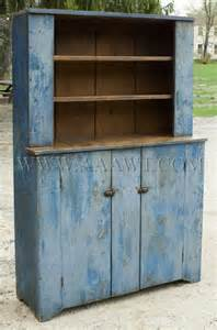 Antique Painted Step Back Cupboard