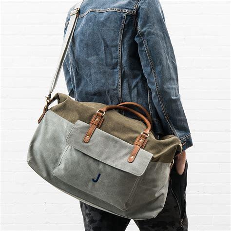 canvas weekender travel bag  knot shop