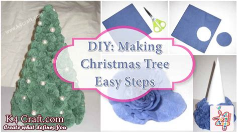 diy tutorial to make christmas tree in cheap and easy