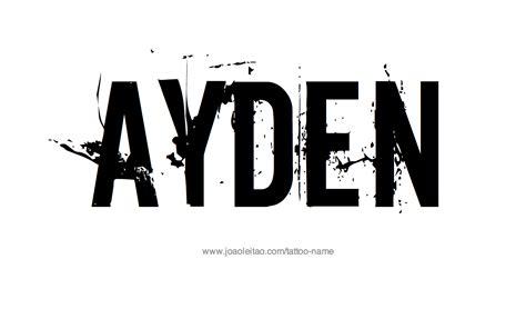 ayden  tattoo designs
