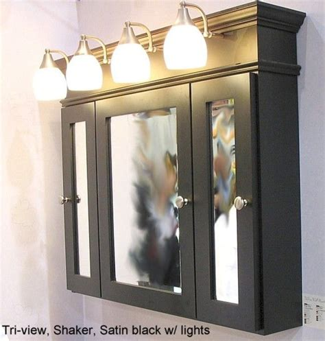 Bathroom Cabinet With Mirror And Lights by Three Door Medicine Cabinet Place Frames Around Sink