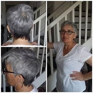 Coupe Cheveux Gris Femme 60 Ans : coupe cheveux courts gris femme 50 ans photo de coiffure bio ~ Voncanada.com Idées de Décoration