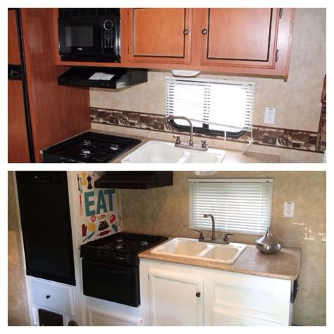 Our camper kitchen redo! Remodel rv camper trailer reno