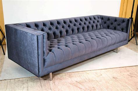Velvet Tufted Sofa by Modern Tufted Velvet Sofa At 1stdibs