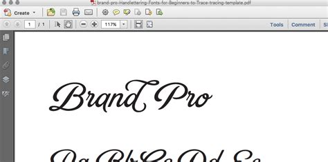 hand lettering fonts for beginners to trace