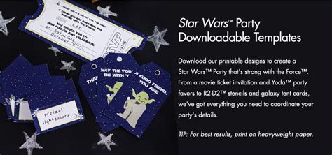 downloadable templates  printables   star wars