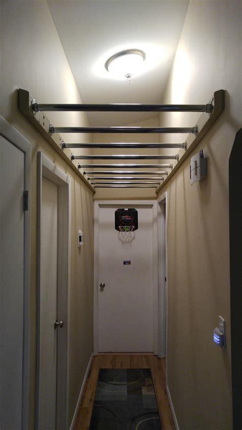 hallway monkey bars diy home gym