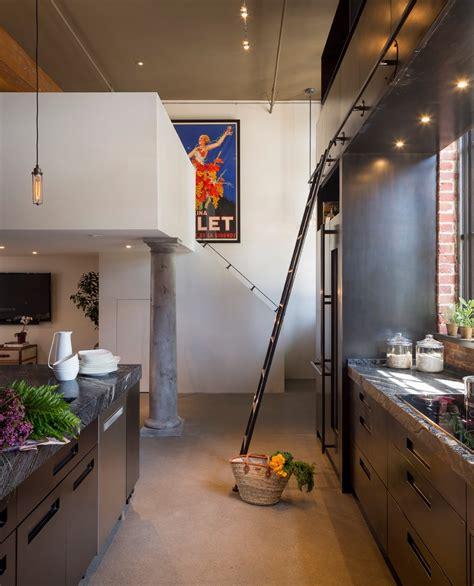 cuisine dans loft deco cuisine moderne