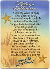 Making a Difference Starfish Poem