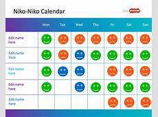 Free NikoNiko Calendar PowerPoint Template Free