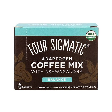 100% organic instant coffee provides 50mg of caffeine as well as antioxidant properties. Four Sigmatic Organic Adaptogen Coffee Mix with Ashwagandha Balance in Canada   Organic, Whole30 ...
