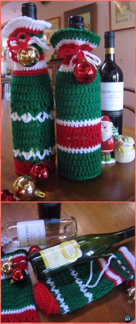 crochet wine bottle cozy bag sack  patterns