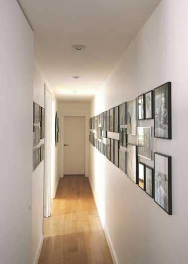 idee deco peinture couloir 12 id 233 es d 233 co pour styliser un couloir 233 troit ou sombre couloir le couloir et cadres photos