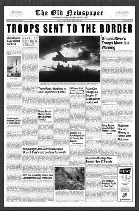 find  newspaper template