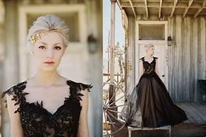 Robe De Mariée Noire : robe de mari e noire tenue audacieuse pour mariage ~ Dallasstarsshop.com Idées de Décoration