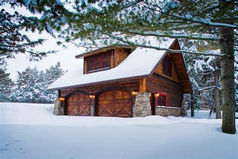 Pole-barn-homes-garage-and-shed-rustic-with-attic-storage