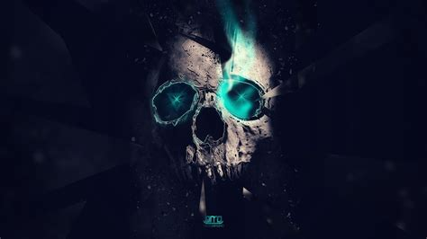 Digital Skull Wallpaper by Artwork Skull Neon Digital Wallpapers Hd Desktop