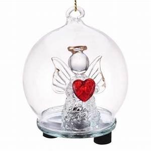 Boule Noel Transparente : boule de no l transparente en verre avec ange lumineux led ~ Melissatoandfro.com Idées de Décoration
