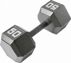 Fitness Gear 50 Lb Cast Hex Dumbbell