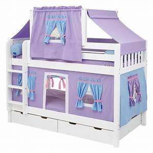 Bedroom Designs: Simple Girl Bunk Beds Purple Twin Bed ...